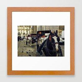 Horse & Buggy Framed Art Print