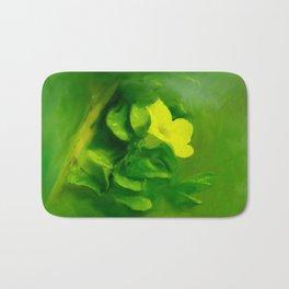 Yellow Mandevilla Flower Bath Mat