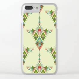 Vintage ethnic tribal aztec ornament Clear iPhone Case