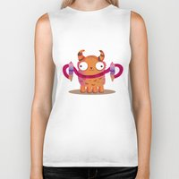 icecream Biker Tanks featuring Icecream monster by Maria Jose Da Luz