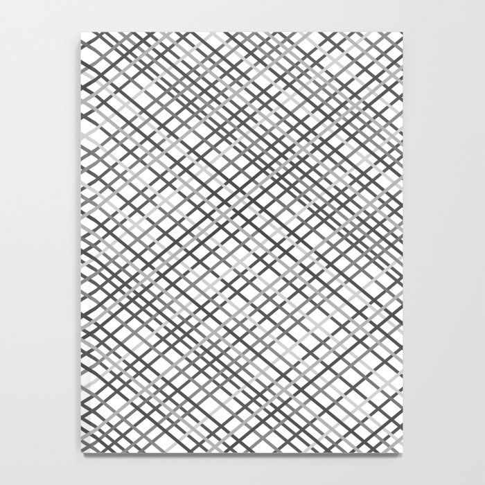 Weave 45 Black and White Notebook