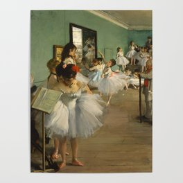 "Edgar Degas ""The dance class"" Poster"