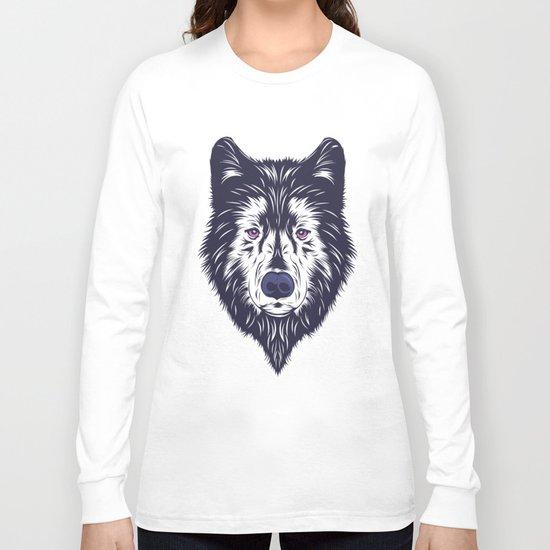 Blue wolf Long Sleeve T-shirt