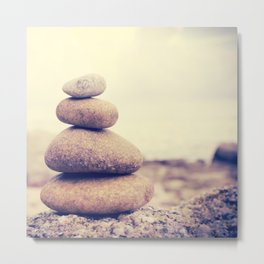 Zen stones Background,Dramatic Look Metal Print