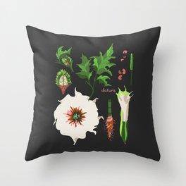 DATURA Throw Pillow