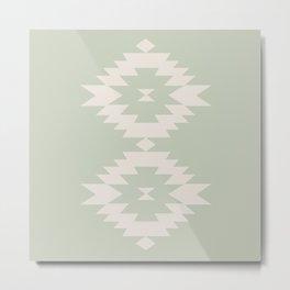 Southwestern Minimalism - Sage Green Metal Print