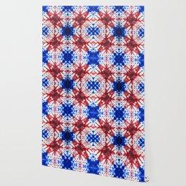 tie dye ancient resist-dyeing techniques Indigo blue red textile Wallpaper