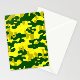 Camouflage (Yellow) Stationery Cards