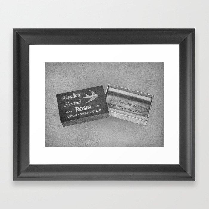 Swallow Brand Rosin Framed Art Print