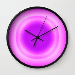 Fuchsia Glow Wall Clock