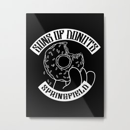 Sons Of Donuts / Simpsons / Donuts (BW version) Metal Print