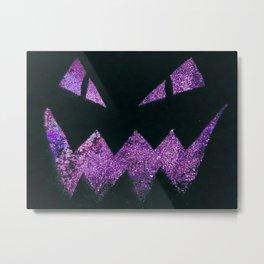Jack-O-Lantern Purple Metal Print