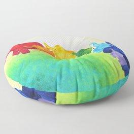 Elephant Rainbow Floor Pillow