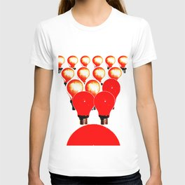 THE MARCH OF THE LIGHTBULBS T-shirt