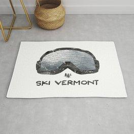 Ski Vermont Ski Goggles — Black with VT Mountains Rug
