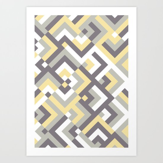 Yellow & Khaki Art Print