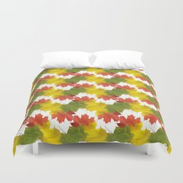 Leaves and Colors Duvet Cover