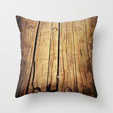 Rustic Wood Throw Pillow