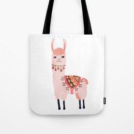 Cute Lama Sticker Tote Bag