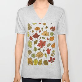 Autumn leaves, berries and nuts Unisex V-Neck