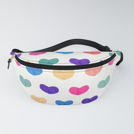 Colorful Cute Hearts III Fanny Pack