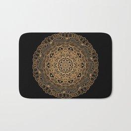 Mandala Project 260   Gold Filigree Bath Mat