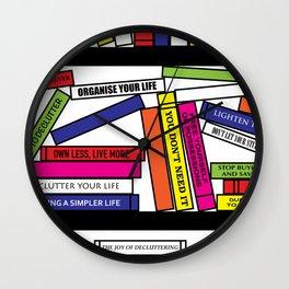 Pop Art Bookshelf Wall Clock
