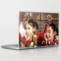 korean Laptop & iPad Skins featuring Korean Dancing Girls by Robert S. Lee Art