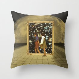 Golden door Throw Pillow