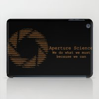 aperture iPad Cases featuring Aperture Science by IS0metric