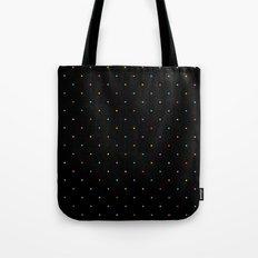 Happy Dots on Black Tote Bag