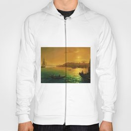 View of Constantinople by Moonlight by Ivan Aivazovsky Hoody