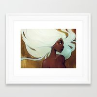 loish Framed Art Prints featuring glow in the dark by loish