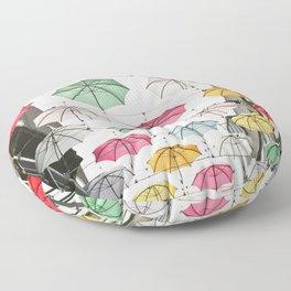 Ireland Dublin | Colorful street photography | Umbrella's Floor Pillow