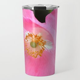 Pretty Pink Poppy Travel Mug