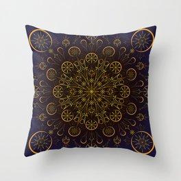 Clockwork Compass Throw Pillow
