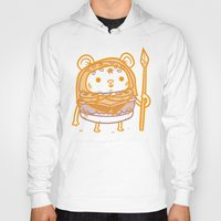 ewok Hoodies featuring Cheeseburger Ewok by Philip Tseng