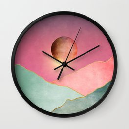 Surreal sunset 02 Wall Clock