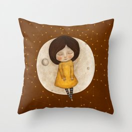 Moon Song 2 Throw Pillow