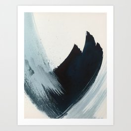 Like A Gentle Hurricane: a minimal, abstract piece in blues and white by Alyssa Hamilton Art Art Print