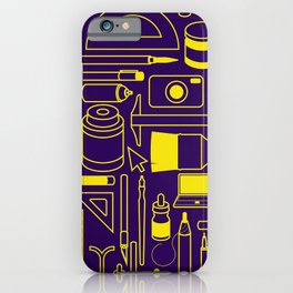 Art Supplies - Eggplant and Yellow iPhone Case