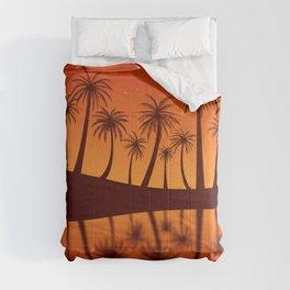 Orange Island Starry Sky Sunset Comforters