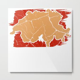 Switzerland Zurich gift Alps Swiss Metal Print