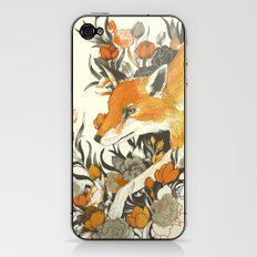 fox in foliage iPhone & iPod Skin
