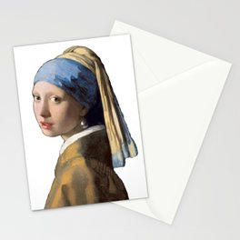 Johannes Vermeer Girl With A Pearl Earring 1665 T Shirt, Art Stationery Cards