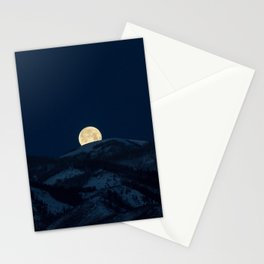 Moonset on the Wasatch Back Stationery Cards