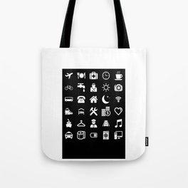 Basic White model: Traveler emoticon help for travel t-shirt Tote Bag