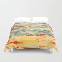 wooden Duvet Covers featuring Wooden Pattern by Patterns and Textures