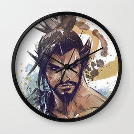 see through the dragon's eyes Wall Clock