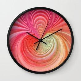 Pastel energy swirl Wall Clock